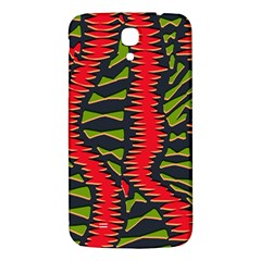 African Fabric Red Green Samsung Galaxy Mega I9200 Hardshell Back Case by Alisyart