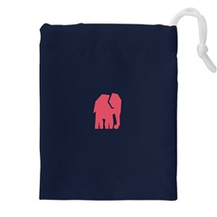 Animals Elephant Pink Blue Drawstring Pouches (xxl) by Alisyart