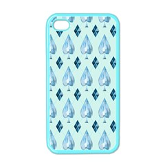 Ace Hibiscus Blue Diamond Plaid Triangle Apple Iphone 4 Case (color) by Alisyart
