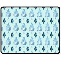 Ace Hibiscus Blue Diamond Plaid Triangle Double Sided Fleece Blanket (medium)  by Alisyart