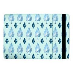 Ace Hibiscus Blue Diamond Plaid Triangle Samsung Galaxy Tab Pro 10 1  Flip Case by Alisyart