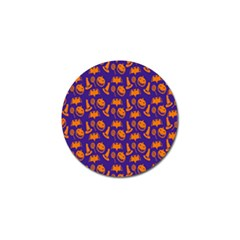 Witch Hat Pumpkin Candy Helloween Purple Orange Golf Ball Marker (10 Pack) by Alisyart