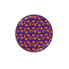 Witch Hat Pumpkin Candy Helloween Purple Orange Hat Clip Ball Marker by Alisyart