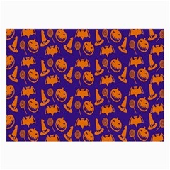 Witch Hat Pumpkin Candy Helloween Purple Orange Large Glasses Cloth by Alisyart