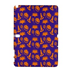 Witch Hat Pumpkin Candy Helloween Purple Orange Galaxy Note 1 by Alisyart