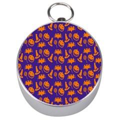 Witch Hat Pumpkin Candy Helloween Purple Orange Silver Compasses by Alisyart
