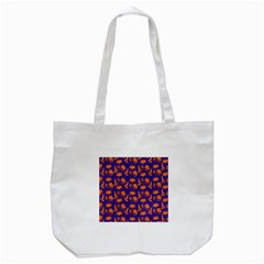 Witch Hat Pumpkin Candy Helloween Purple Orange Tote Bag (white)