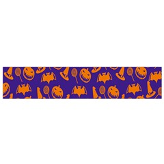 Witch Hat Pumpkin Candy Helloween Purple Orange Flano Scarf (small) by Alisyart