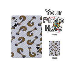 African Fabric Hair Wave Chevron Playing Cards 54 (Mini)  by Alisyart
