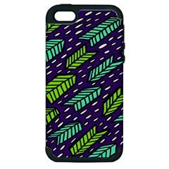 Arrows Purple Green Blue Apple Iphone 5 Hardshell Case (pc+silicone) by Alisyart