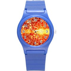 Board Conductors Circuit Round Plastic Sport Watch (s) by Amaryn4rt