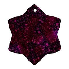 Retro Flower Pattern Design Batik Snowflake Ornament (two Sides)