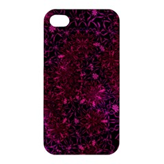 Retro Flower Pattern Design Batik Apple Iphone 4/4s Premium Hardshell Case by Amaryn4rt