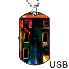 Architecture City Homes Window Dog Tag Usb Flash (two Sides) by Amaryn4rt