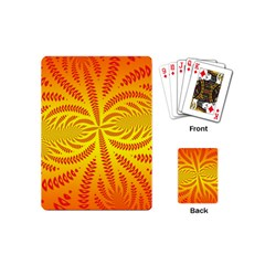 Background Brush Particles Wave Playing Cards (mini)  by Amaryn4rt