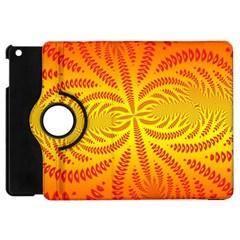Background Brush Particles Wave Apple Ipad Mini Flip 360 Case
