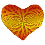 Background Brush Particles Wave Large 19  Premium Flano Heart Shape Cushions Front