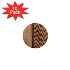 Wood Grain Texture Brown 1  Mini Buttons (10 Pack)  by Amaryn4rt