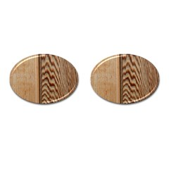 Wood Grain Texture Brown Cufflinks (oval) by Amaryn4rt