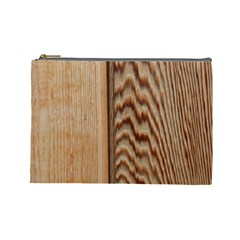 Wood Grain Texture Brown Cosmetic Bag (large)  by Amaryn4rt