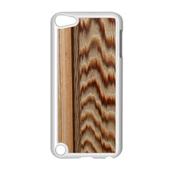 Wood Grain Texture Brown Apple Ipod Touch 5 Case (white) by Amaryn4rt