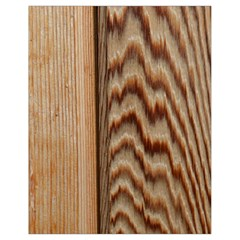 Wood Grain Texture Brown Drawstring Bag (small) by Amaryn4rt
