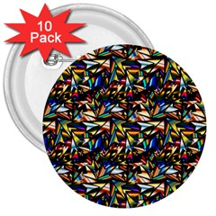 Abstract Pattern Design Artwork 3  Buttons (10 Pack)  by Amaryn4rt