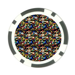 Abstract Pattern Design Artwork Poker Chip Card Guard (10 Pack) by Amaryn4rt