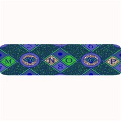 African Fabric Number Alphabeth Diamond Large Bar Mats by Alisyart