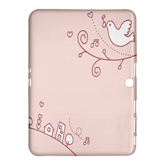 Bird City Sing Pink Notes Music Samsung Galaxy Tab 4 (10 1 ) Hardshell Case  by Alisyart