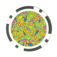 Animals Fish Green Pink Blue Green Yellow Water River Sea Poker Chip Card Guard (10 Pack) by Alisyart