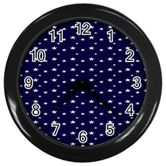 Blue Star Wall Clocks (black)