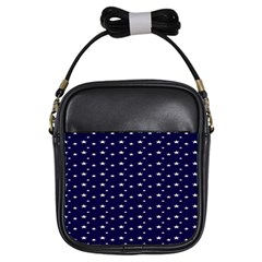 Blue Star Girls Sling Bags by Alisyart