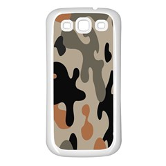 Camouflage Army Disguise Grey Orange Black Samsung Galaxy S3 Back Case (white) by Alisyart