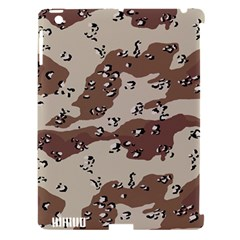 Camouflage Army Disguise Grey Brown Apple Ipad 3/4 Hardshell Case (compatible With Smart Cover) by Alisyart