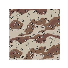 Camouflage Army Disguise Grey Brown Small Satin Scarf (square) by Alisyart
