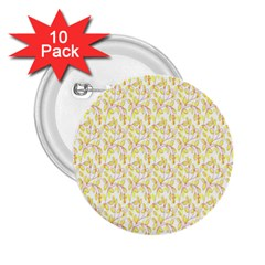 Branch Spring Texture Leaf Fruit Yellow 2 25  Buttons (10 Pack)