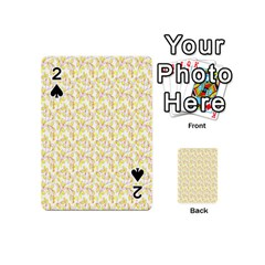 Branch Spring Texture Leaf Fruit Yellow Playing Cards 54 (mini)  by Alisyart