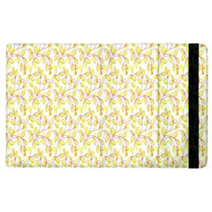 Branch Spring Texture Leaf Fruit Yellow Apple Ipad 3/4 Flip Case by Alisyart