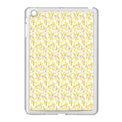 Branch Spring Texture Leaf Fruit Yellow Apple Ipad Mini Case (white) by Alisyart