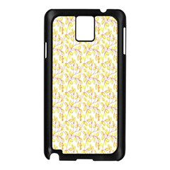 Branch Spring Texture Leaf Fruit Yellow Samsung Galaxy Note 3 N9005 Case (black) by Alisyart