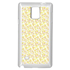 Branch Spring Texture Leaf Fruit Yellow Samsung Galaxy Note 4 Case (white) by Alisyart