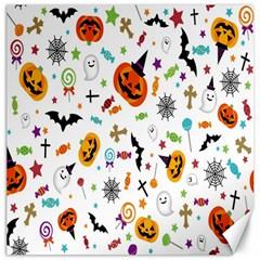 Candy Pumpkins Bat Helloween Star Hat Canvas 12  X 12   by Alisyart