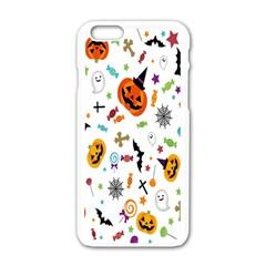 Candy Pumpkins Bat Helloween Star Hat Apple Iphone 6/6s White Enamel Case by Alisyart