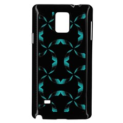 Chevron Blue Wave Samsung Galaxy Note 4 Case (black)