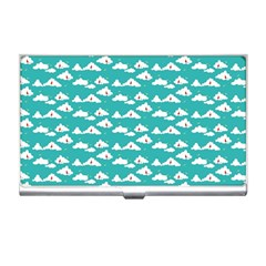 Cloud Blue Sky Sea Beach Bird Business Card Holders by Alisyart