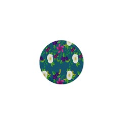 Caterpillar Flower Floral Leaf Rose White Purple Green Yellow Animals 1  Mini Buttons by Alisyart