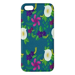 Caterpillar Flower Floral Leaf Rose White Purple Green Yellow Animals Apple Iphone 5 Premium Hardshell Case by Alisyart