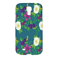 Caterpillar Flower Floral Leaf Rose White Purple Green Yellow Animals Samsung Galaxy S4 I9500/i9505 Hardshell Case by Alisyart