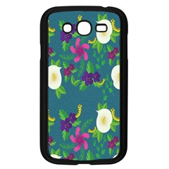 Caterpillar Flower Floral Leaf Rose White Purple Green Yellow Animals Samsung Galaxy Grand Duos I9082 Case (black) by Alisyart